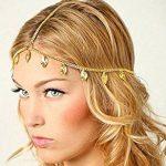 Deniferymakeup - Cadena de boda bohemia bohemia con diseño de hojas de boda y cabeza griega