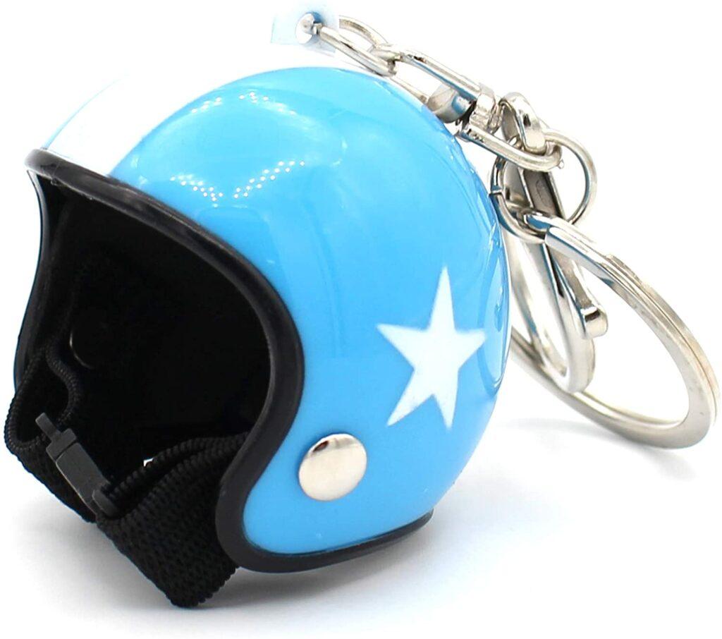 Llavero-con-diseño-de-casco-de-moto-retro